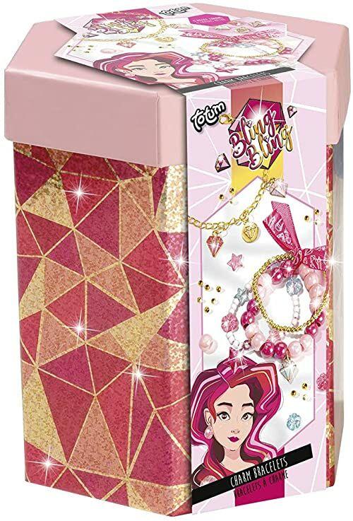 Totum Stwórz własną bransoletkę dla dziewcząt w kolorze różowym/złotym