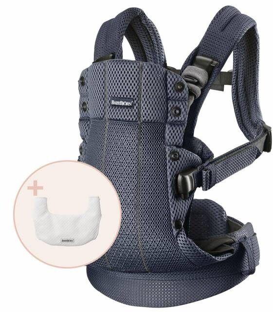 Babybjorn - nosidełko harmony 3d mesh, antracyt + śliniaczek do nosidełka harmony
