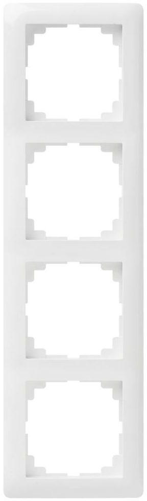 Ramka poczwórna ASTORIA biały ELEKTRO-PLAST