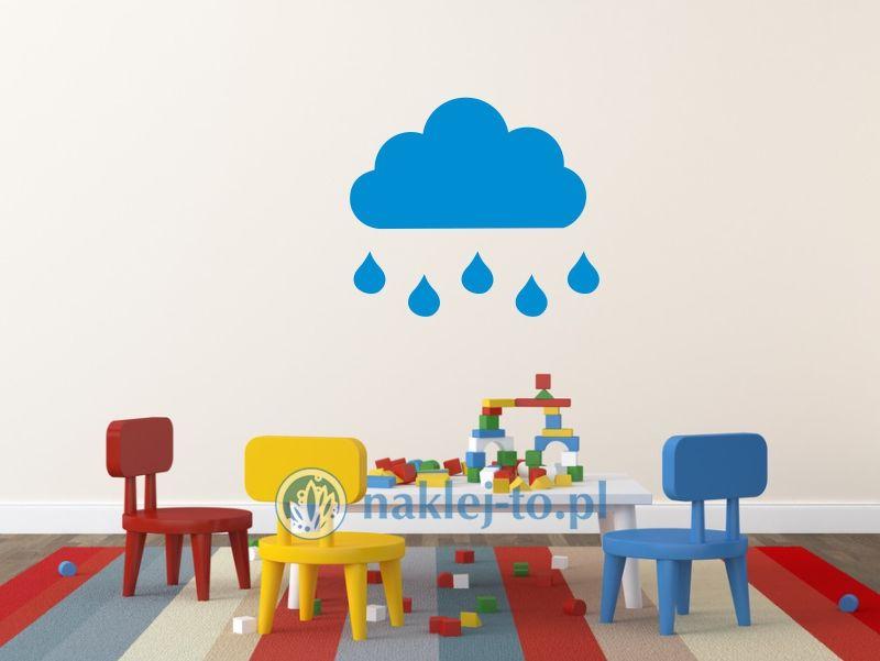 naklejka chmurka z deszczem 1 naklejka na ścianę