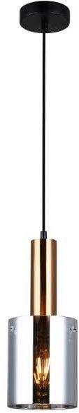 Sardo lampa wisząca 1-punktowa mosiądz/dymiona PND-5581-1-BRO+SG