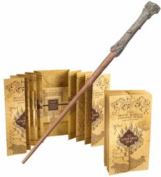 Harry Potter Wand & Harry Potter Marauders Map The Noble Collection