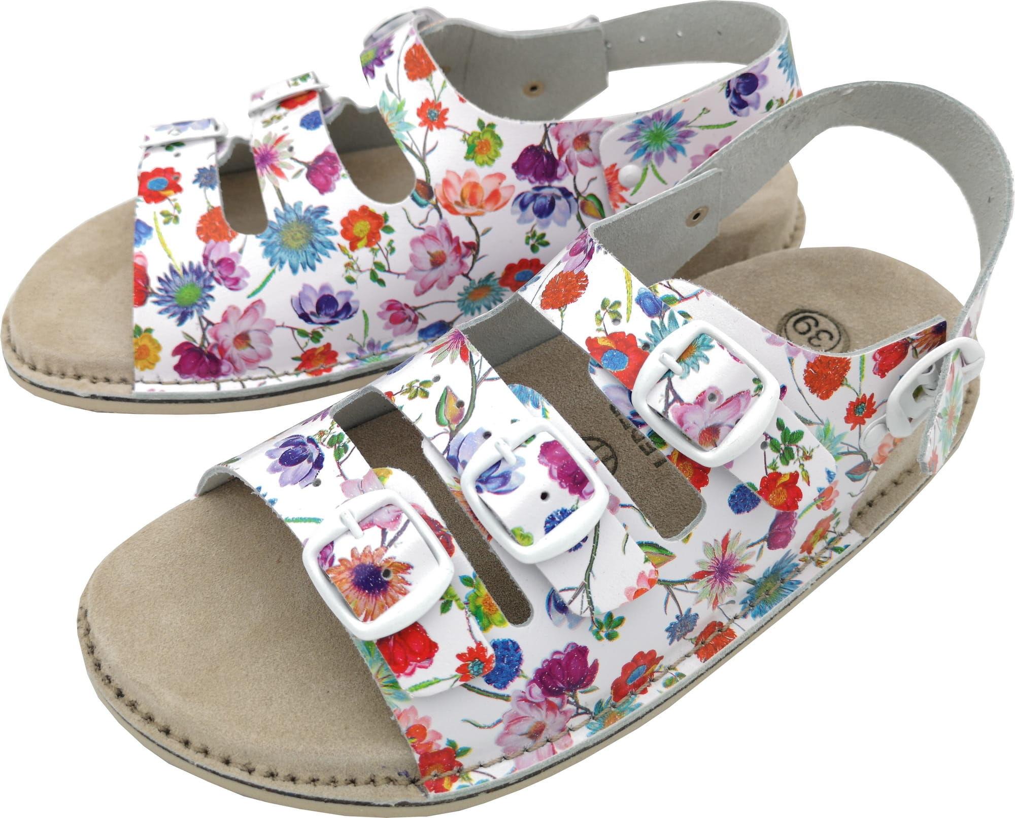 Sandały skórzane Fusbet damskie