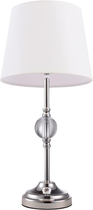Lampa stołowa Monaco T01230WH COSMOLight biała oprawa w stylu kryształowym