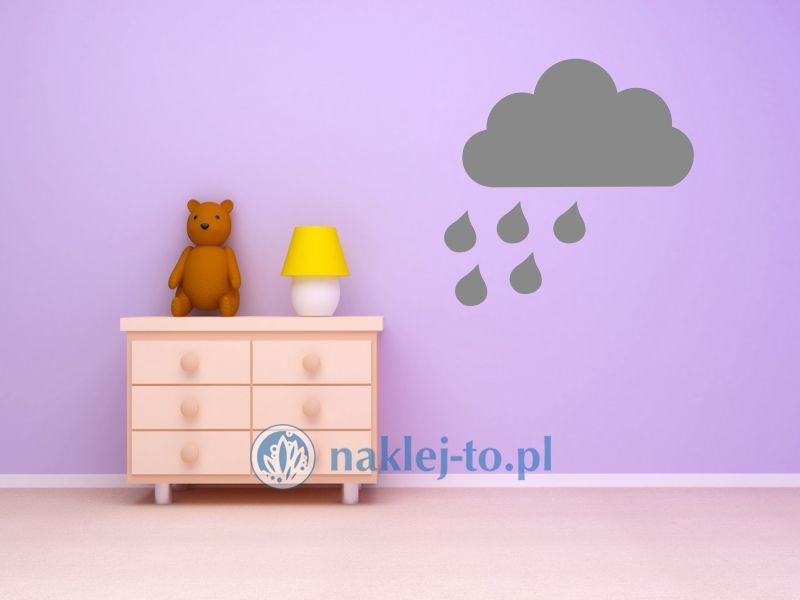 naklejka chmurka z deszczem 2 naklejka na ścianę