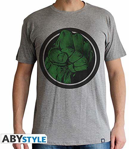 """ABYstyle - MARVEL - T-shirt -""""Hulk Smash"""" - mężczyźni - szary (XL)"""