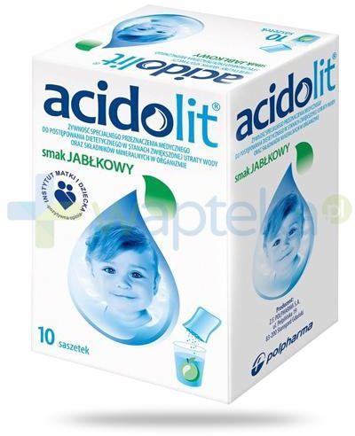 Acidolit smak jabłkowy proszek 10 saszetek