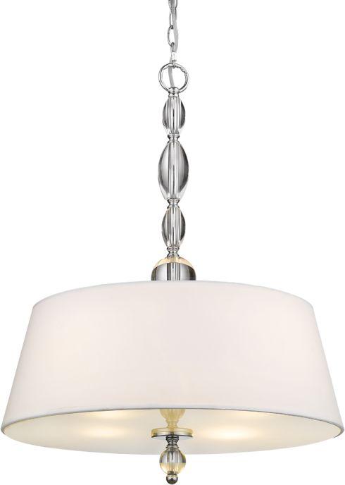Lampa wisząca Cancun P04981WH COSMOLight biała oprawa w stylu kryształowym