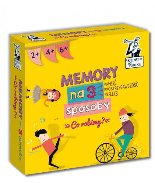 Memory na 3 sposoby. Co robimy? 2+, 4+, 6+ ZAKŁADKA DO KSIĄŻEK GRATIS DO KAŻDEGO ZAMÓWIENIA