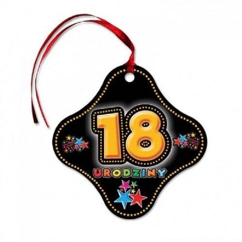Zawieszki na butelkę na 18 urodziny KolorLove Gwiazdy, z tasiemką 20 szt.