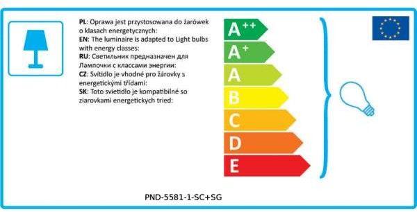 Sardo lampa wisząca 1-punktowa nikiel satyna PND-5581-1-SC+SG