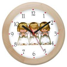 Zegar drewniany rondo aniołki