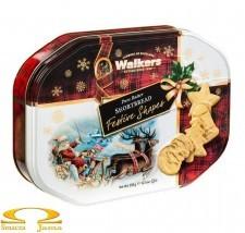 Ciasteczka Maślane Walkers Pure Butter Shortbread Świąteczne Kształty Puszka 350g