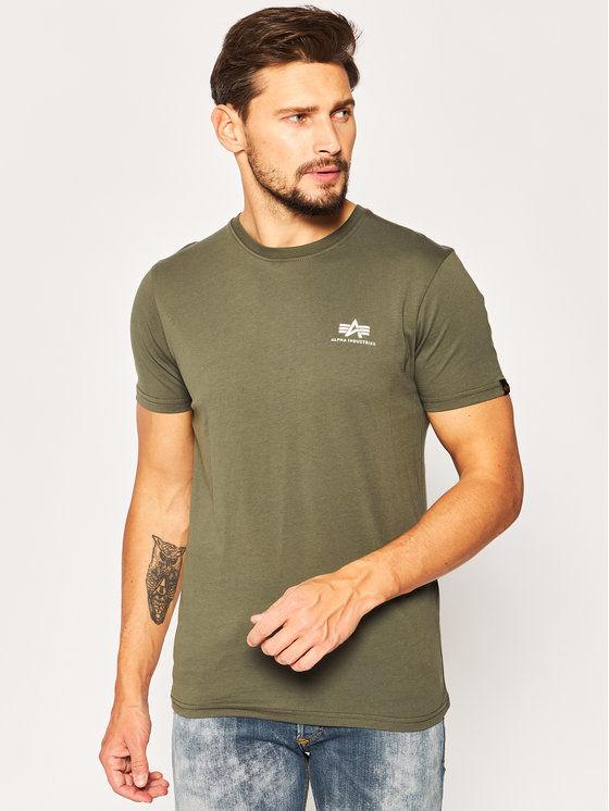 Alpha Industries T-Shirt Basic 188505 Zielony Regular Fit