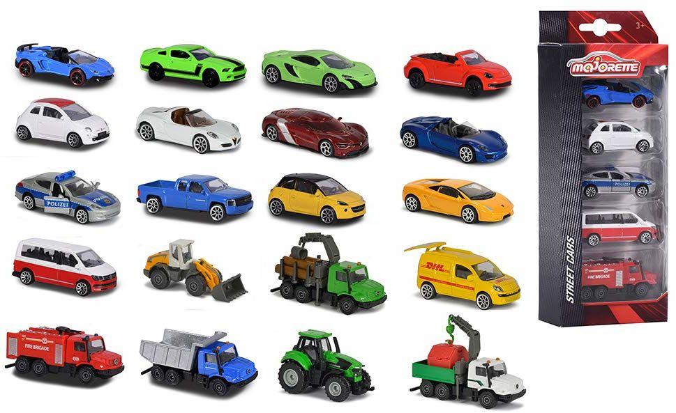 Majorette - Miniaturowe Pojazdy, Wielokolorowy, 5 Sztuk, 212053166