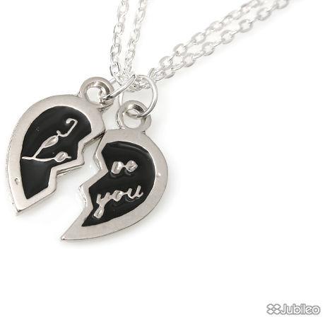 WISIOREK SERCE ZŁAMANE kolor czarny romantyczne serce dla zakochanych masa jubilerska walentynki (aj746)