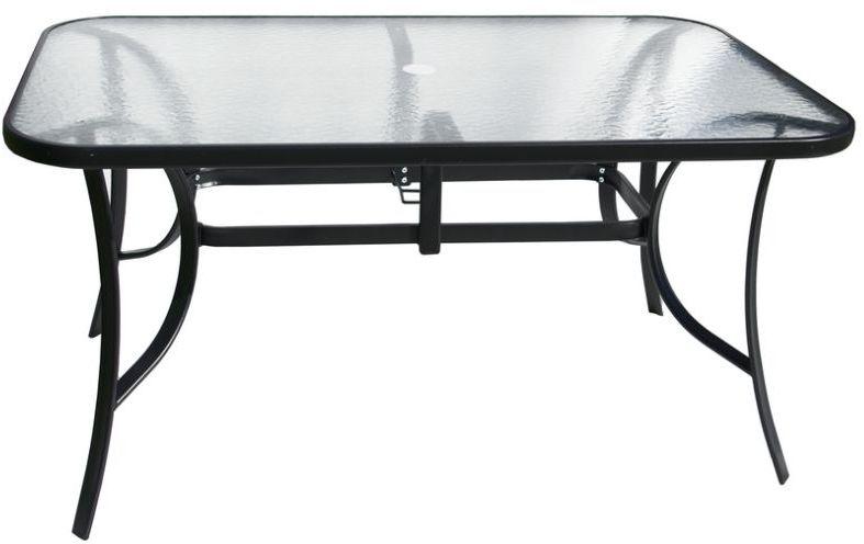 Stół ogrodowy ze szklanym blatem