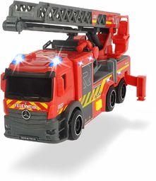 Dickie - Samochód strażacki 23 cm, światło i dźwięk, drabina obrotowa i wysuwana, wysuwane nóżki (Dickie 203714011)