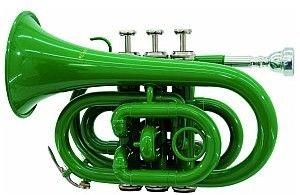 Dimavery TP-300 Bb Pocket Trumpet, green, trąbka