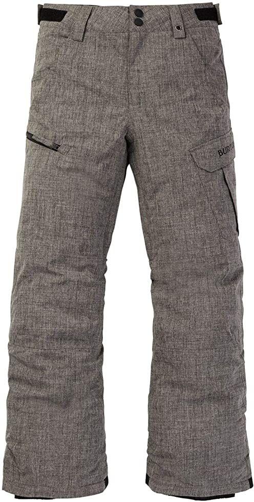 Burton Chłopięce Exile Cargo Spodnie, Bog Heather, XS