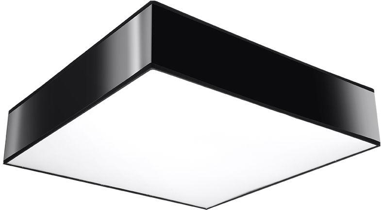 Czarny kwadratowy plafon - EX508-Horux