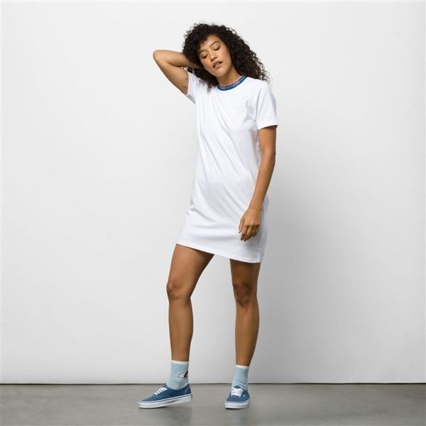 sukienka VANS - Funnier Dress White (WHT)