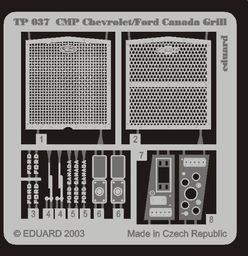 Eduard Accessories TP037 Akcesoria do modeli CMP Chevrol/Ford Canada Grill