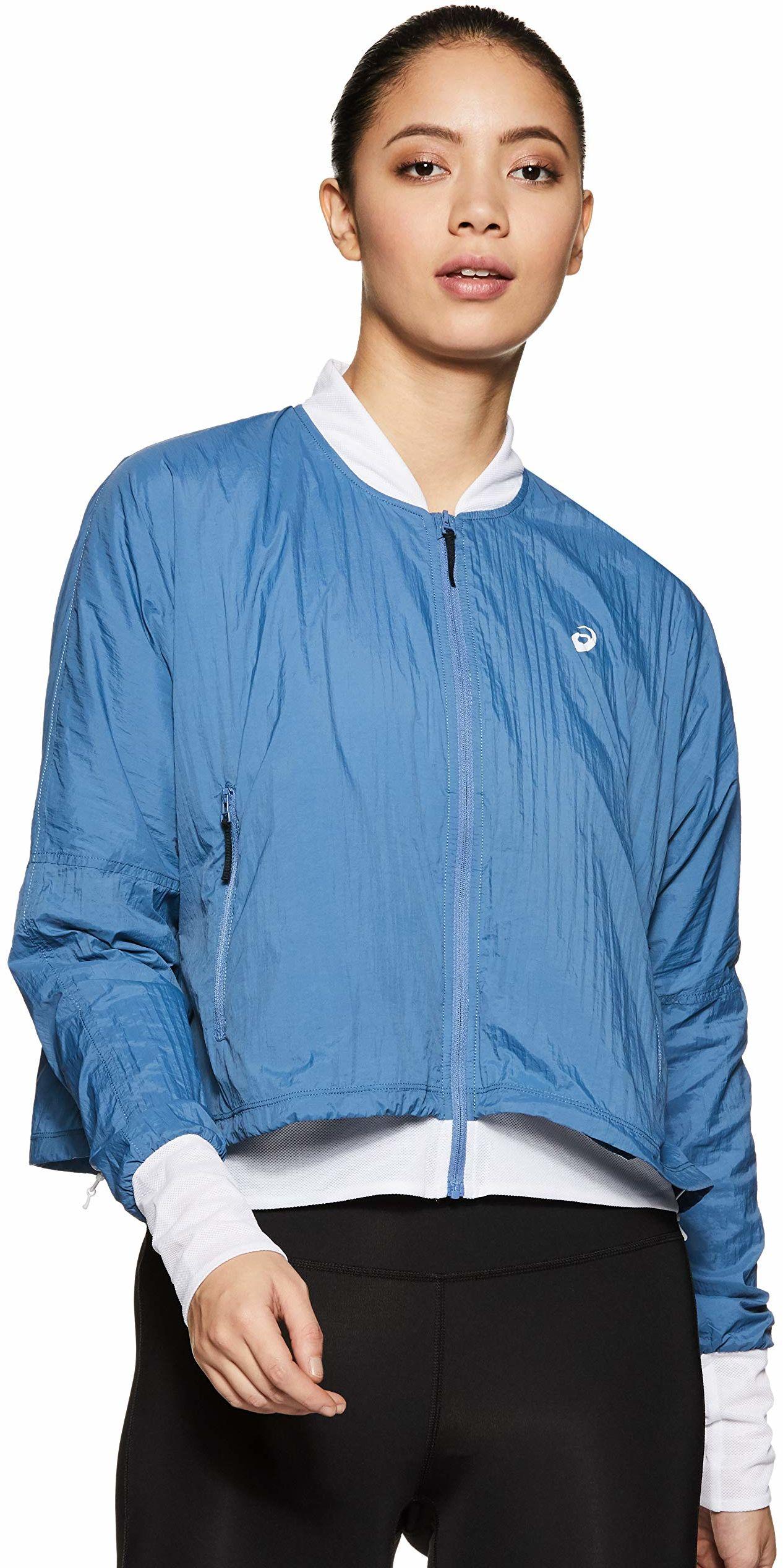 Asics damska kurtka treningowa, jasnoniebieska, jasnoszara, L, L