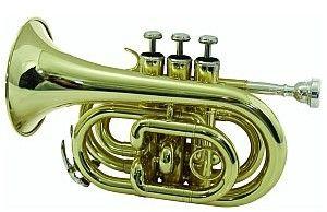 Dimavery TP-300 Bb Pocket Trumpet, gold, trąbka