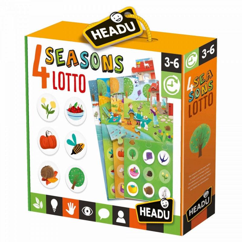 Puzzle HEADU Gra Lotto 4 pory roku