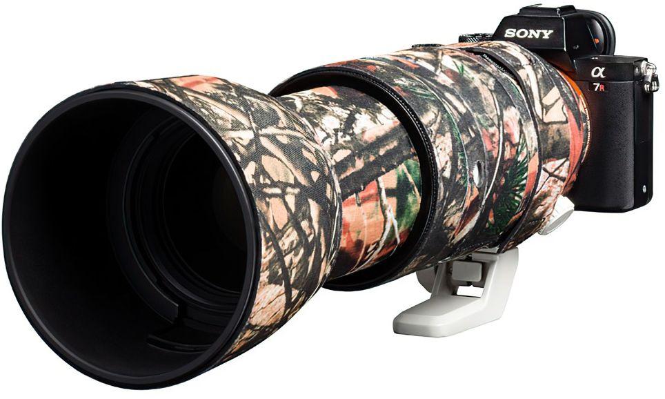 Neoprenowa osłona easyCover na obiektyw Sony FE 100-400 F4.5-5.6 GM OSS  kamuflaż las