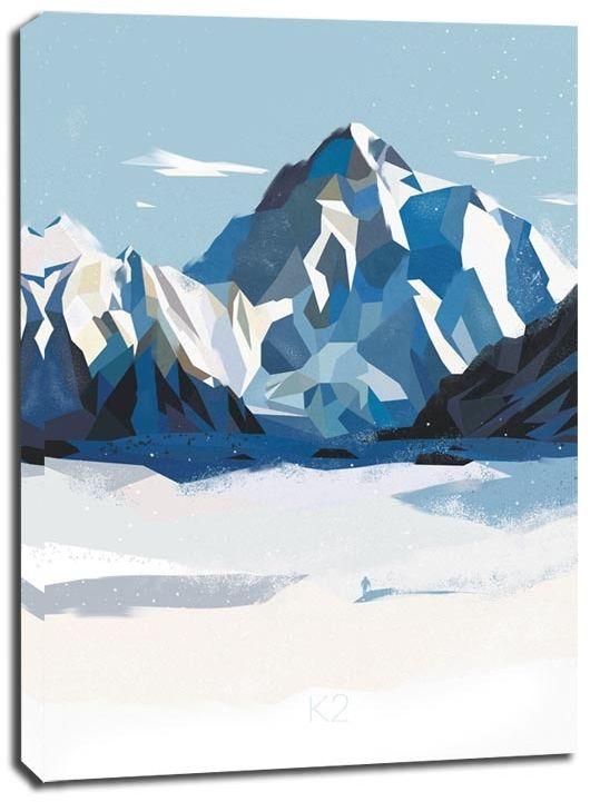 Góry k2 - obraz na płótnie wymiar do wyboru: 30x40 cm