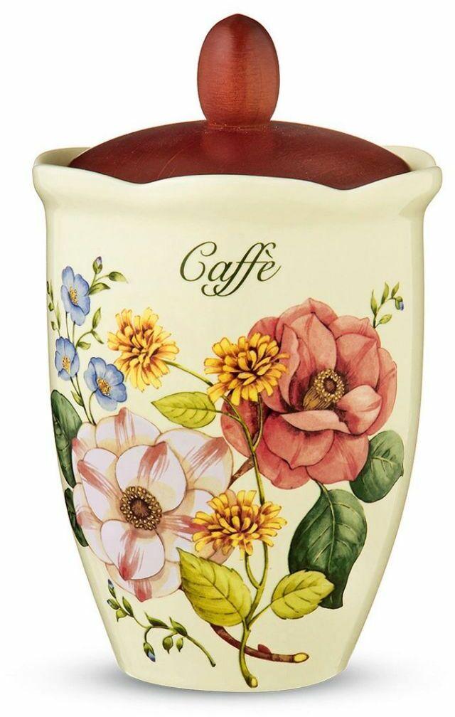 Nuova Cer., pojemnik na kawę - ROYAL GARDEN, kwiaty