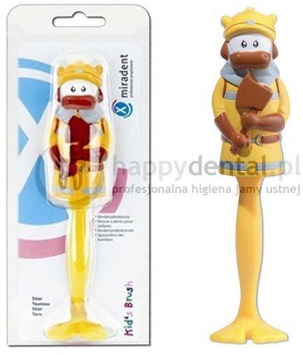 MIRADENT Kids Brush - szczoteczka do zębów dla dzieci z zamykanym pokrowcem - KROWA