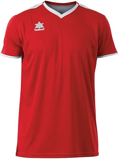 Luanvi Męski T-shirt Match z krótkimi rękawami. czerwony czerwony 4XS