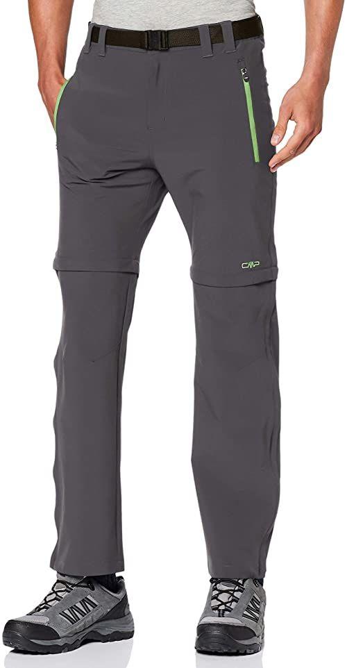 CMP męskie spodnie Zip Off 38T5127 z odpinanymi nogawkami, szaro-szare, 46
