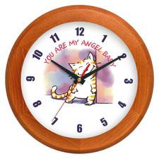 Zegar drewniany rondo pieszczoch