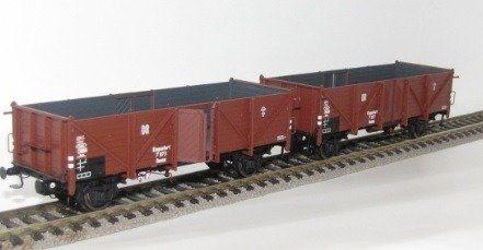 Zestaw 3 wagonów towarowych odkrytych Omm34 Exact Train