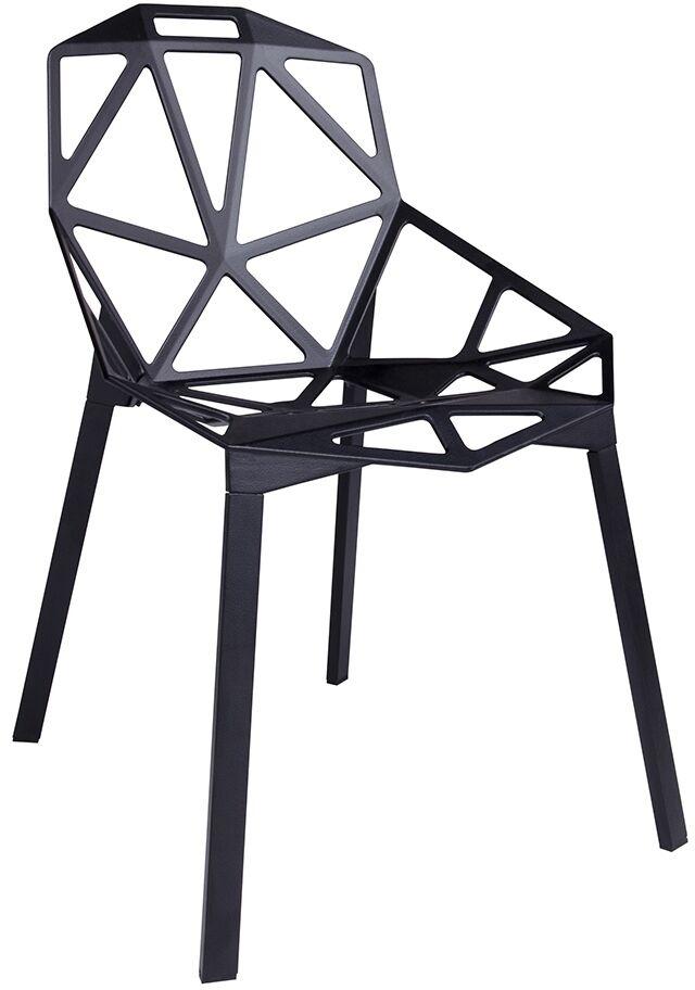 Krzesło SPLIT PREMIUM czarne - aluminium, nogi czarne DC-362.ALLBLACK - King Home  Sprawdź kupony i rabaty w koszyku  Zamów tel  533-810-034