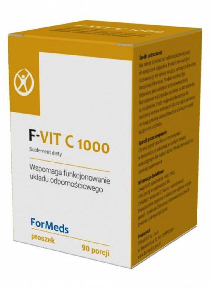 FORMEDS F-Vit C 1000 (Witamina C w Proszku - Wsparcie Odporności) 90g