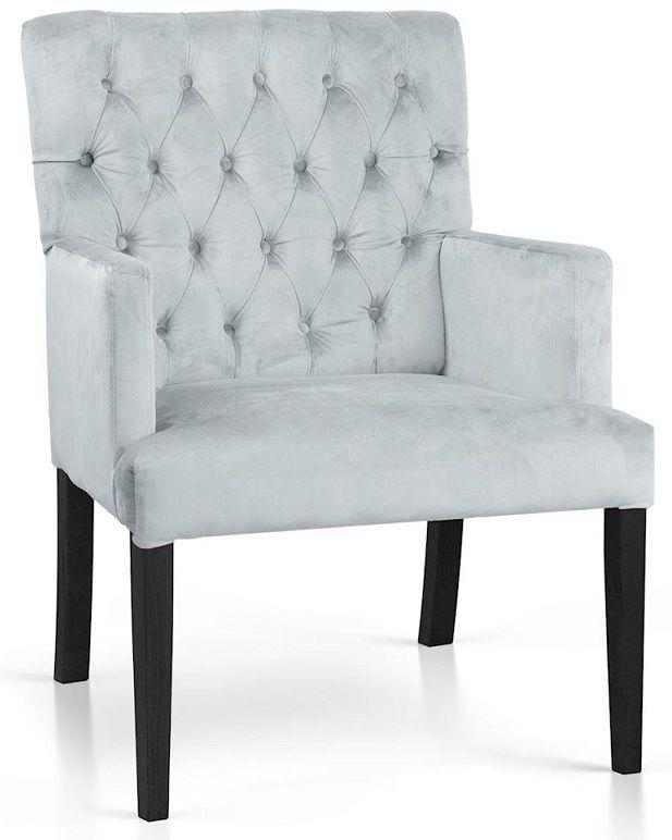 Fotel MARTINO srebrny
