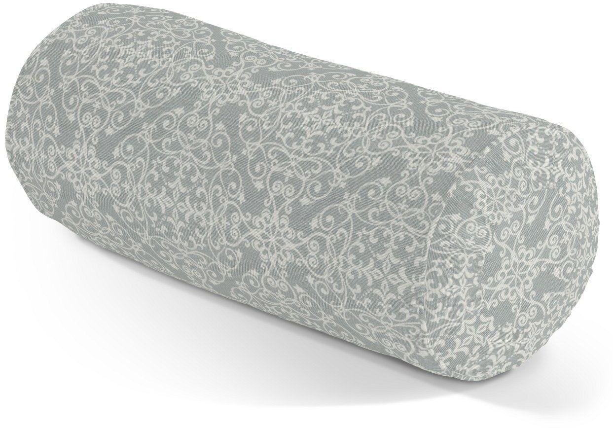 Poduszka wałek z zakładkami, wzory na szarym tle, Ø20  50 cm, Flowers