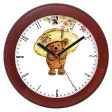 Zegar drewniany rondo kapelusznik
