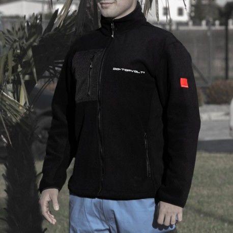 Bluza polarowa robocza Czarna Doktorvolt Rozmiar 2XL 2247
