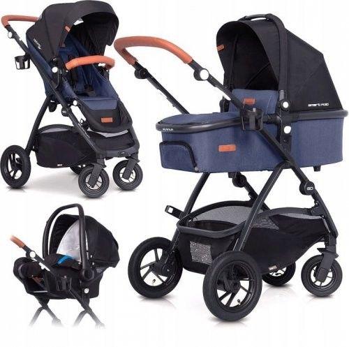 Wózek wielofunkcyjny 4w1 EasyGo Optimo Air - Denim