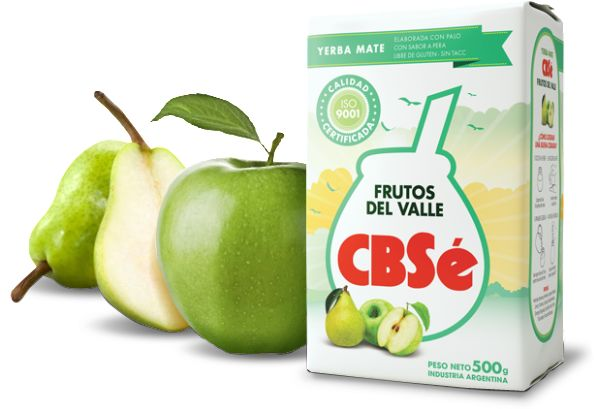 Yerba Mate CBSe Frutos Del Valle 500g jabłko/gruszka