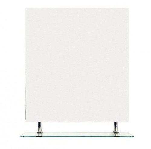 Lustro z półką 80x80 cm seria WEGA