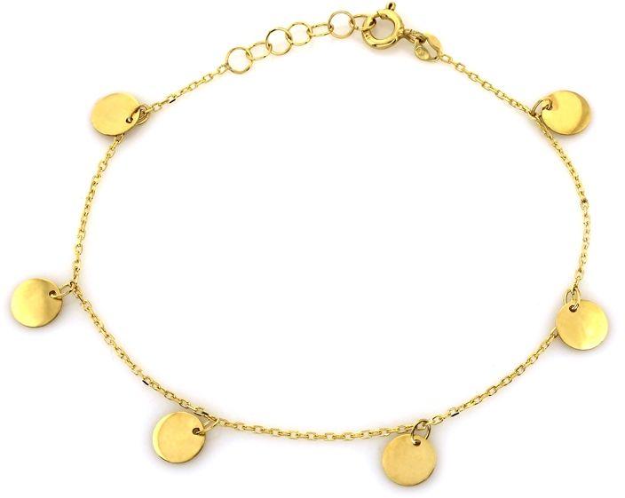 Złota bransoletka 585 wiszące kółeczka 14kt