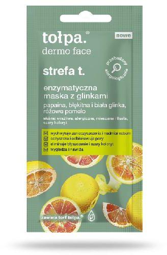 Tołpa Dermo Face strefa t. enzymatyczna maska z glinkami 8 ml