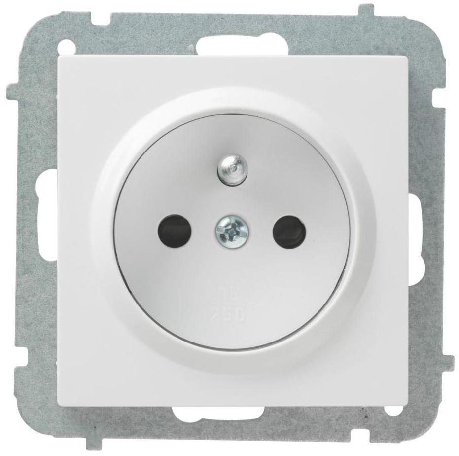 Gniazdo pojedyncze ASTORIA biały ELEKTRO-PLAST